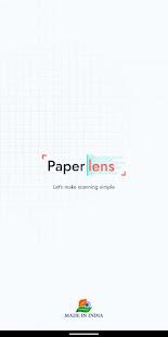 PaperLens - Let's make Scanning Simple