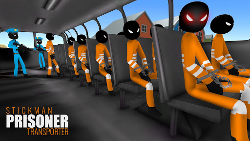 US Police Stickman Criminal Plane Transporter Game 4.7 screenshots 3
