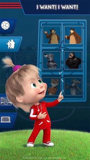 Masha and the Bear: Football Games for kids Apkfinish screenshots 7