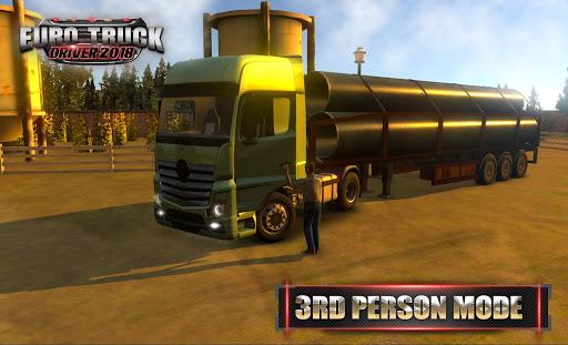 Code Triche Euro Truck Driver - 2018 (Astuce) APK MOD screenshots 5