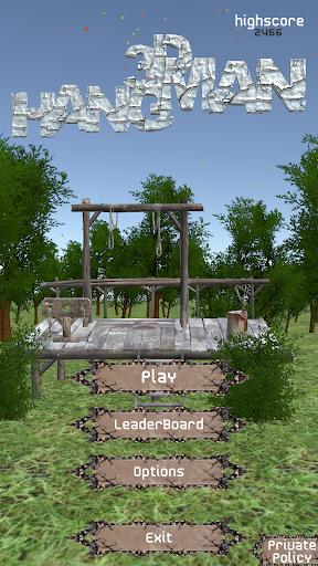 Hangman 3D 2.3 screenshots 1