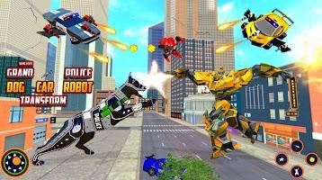 Police Dog Robot Transform Game - Flying Car Games