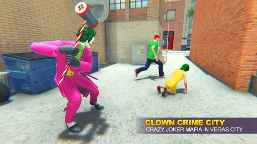 Grand Clown Crime City War: Gangster Crime Games modavailable screenshots 4