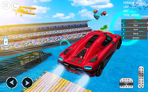 water car stunt racing 2019: 3d cars stunt games screenshot 3