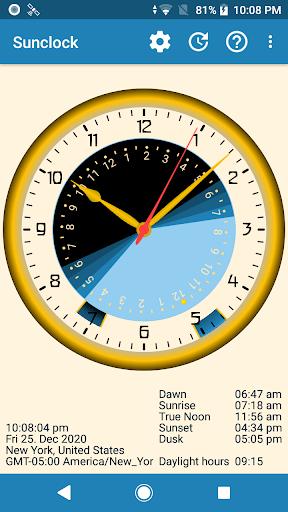 Sunclock - Astronomical Clock, Sunrise, Sunset 2.64 screenshots 1