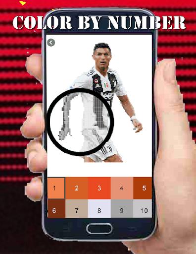 Code Triche Football Players Color By Number-Pixel Art 2021 (Astuce) APK MOD screenshots 2
