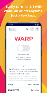 1.1.1.1 MOD APK (WARP+ Unlimited MOD) 1