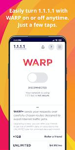 1.1.1.1: Cloudflare DNS Mod Apk (Free WARP+) 1