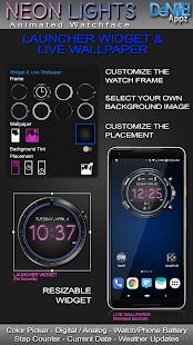 Neon Lights HD Watch Face Widget & Live Wallpaper