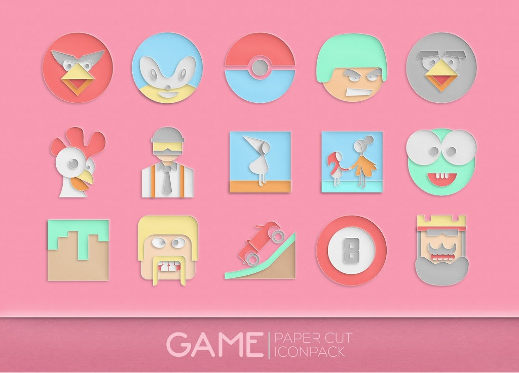 Paper Cut Icon pack New  poster 5
