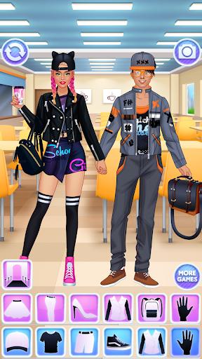 High School Couple: Girl & Boy Makeover 1.6 screenshots 3