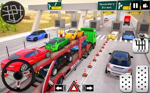 Car Transporter Truck Simulator-Carrier Truck Game screenshots 4