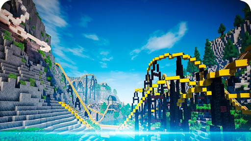 maps for minecraft pe roller coaster screenshot 2