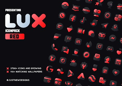 Lux Red IconPack Apk 1.0 (Paid) 1
