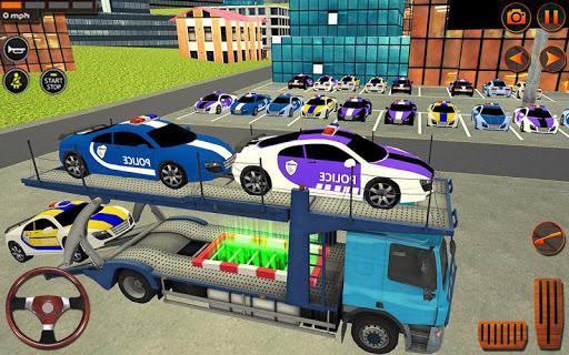 Police Car Transporter Simulator: Truck Driving 3d apkpoly screenshots 5