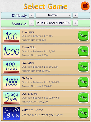 Math Fast Plus and Minus 2.3.1 screenshots 13