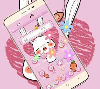 Pink Cute Cartoon Rabbit Theme 1.1.4 APK Mod Latest Version 3