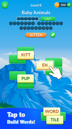 Word Tile Puzzle: Brain Training & Free Word Games android2mod screenshots 1