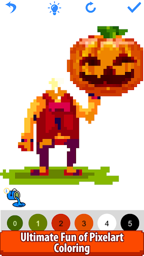 halloween pixel art:paint by number, coloring book screenshot 3