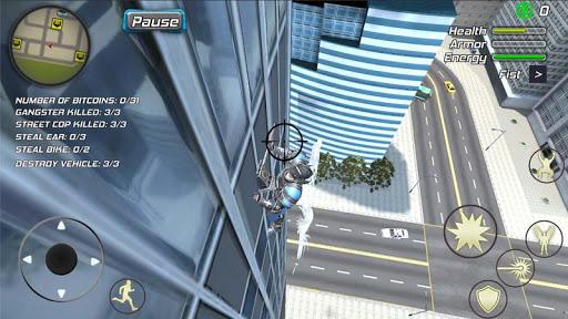 Crime Angel Superhero - Vegas Air Strike Apkfinish screenshots 19