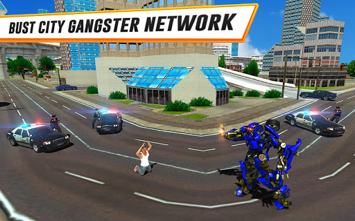 US Police Car Real Robot Transform: Robot Car Game android2mod screenshots 13