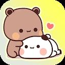Cute Panda sticker gemoy Wastickerapps