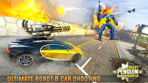 Penguin Robot Car Game: Robot Transforming Games 5 Screenshots 8
