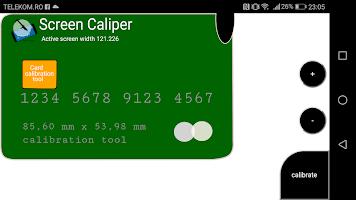 Screen caliper