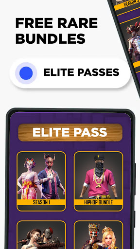 FFF: FF Skin Tool, Elite pass Bundles, Emote, skin android2mod screenshots 2