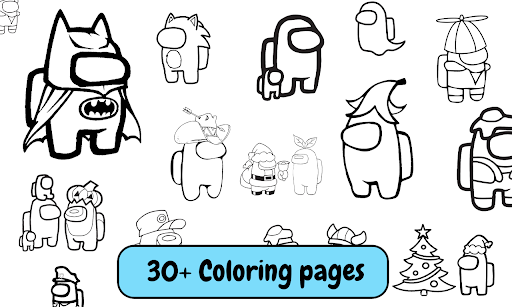 Among Us Coloring Book: Create Your Own Imposter screenshot 2