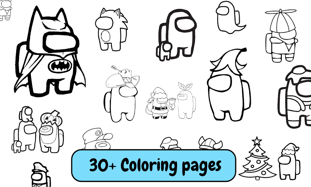 Among Us Coloring Book: Create Your Own Imposter screenshot 1