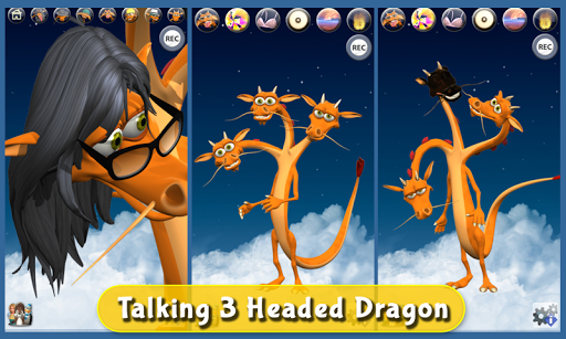 talking 3 headed dragon deluxe screenshot 1