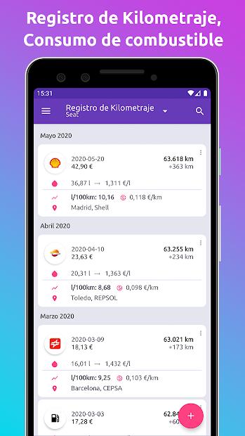Captura de Pantalla 4 de Fuelio: Combustible y gastos para android