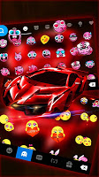 Red Racing Sports Car Keyboard Theme