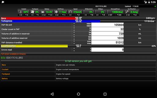 FAPlite Citroen/Peugeot OBD2 1.61 Screenshots 6