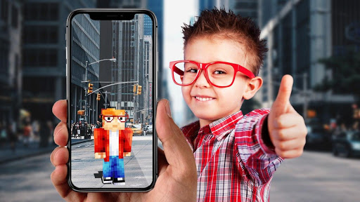 AR Minecraft skins Visualiser in Augmented Reality modiapk screenshots 1