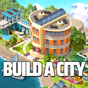 City Island 5 Tycoon Building Simulation Offline 3.6.6 by Sparkling Society Build Town City Building Games logo