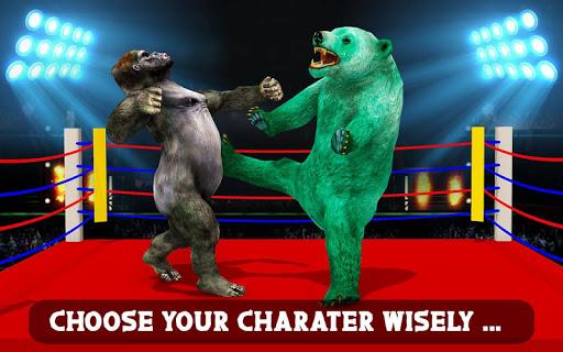 Wild Gorilla vs Wild Bear Ring Fighting: Wild Hunt apktram screenshots 3