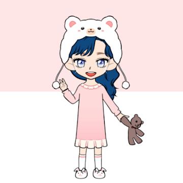 Captura de Pantalla 1 de My Webtoon Character Girls - K-pop IDOL Maker para android