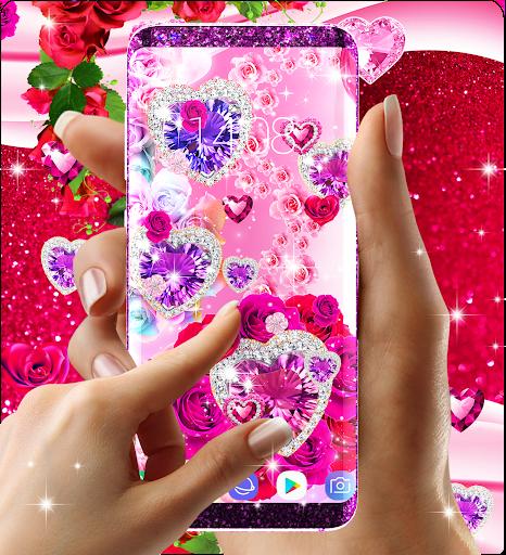 Diamond rose glitter live wallpaper apktram screenshots 3