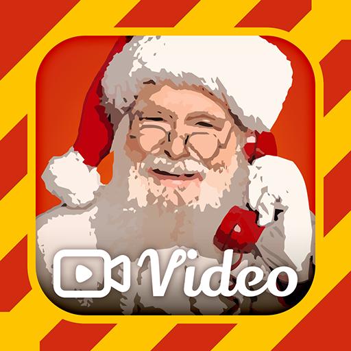 Videollamada a Santa -Video llamada simulada Santa