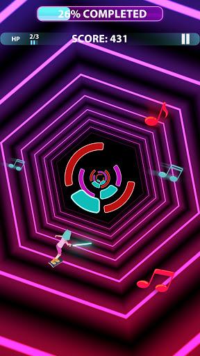 Code Triche Music Surfer - offline tap music games. Dance now (Astuce) APK MOD screenshots 2