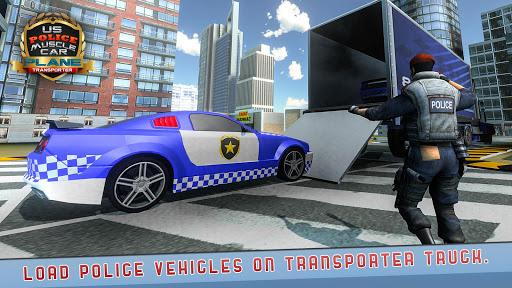 US Police Muscle Car Cargo Plane Flight Simulator 4.7 screenshots 7