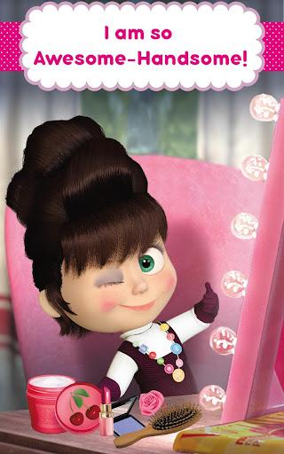 Masha and the Bear: Hair Salon and MakeUp Games apkpoly screenshots 18