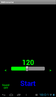 Metronome Audio et Visuel Capture d'écran