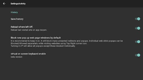 Internet Browser (TV) Apk Download 3
