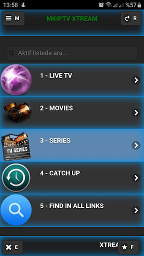 Foto do IPTV Xtream Player