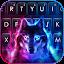 تحميل  Neon Smokey Wolf Keyboard Background