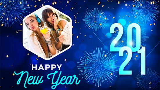 Happy New Year Photo Frame 2021 photo editor 2.2 Screenshots 1