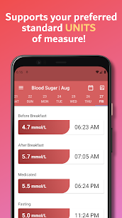Simple Blood Diary: Sugar, Pressure & Body Weight 2